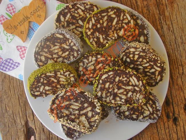 Ezber Bozan Beğenme Garantili Bir Tarif : Çikolatalı Mozaik Pasta