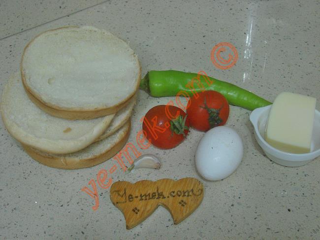 Fırında Kahvaltılık Ekmek Dilimleri - Yapılışı (1/12)