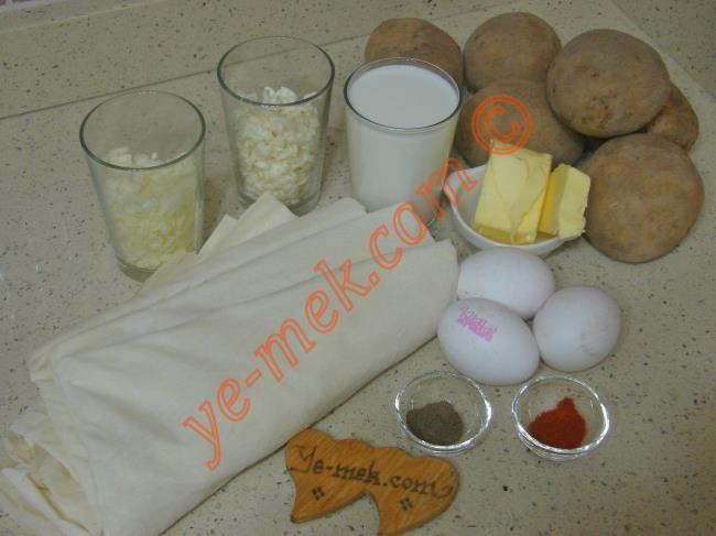Patatesli Rulo Buzluk Böreği Malzemeleri