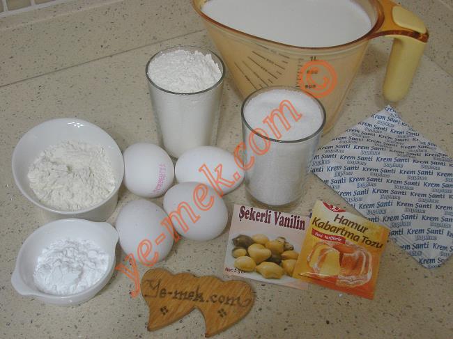 Gelin Pastası Malzemeleri