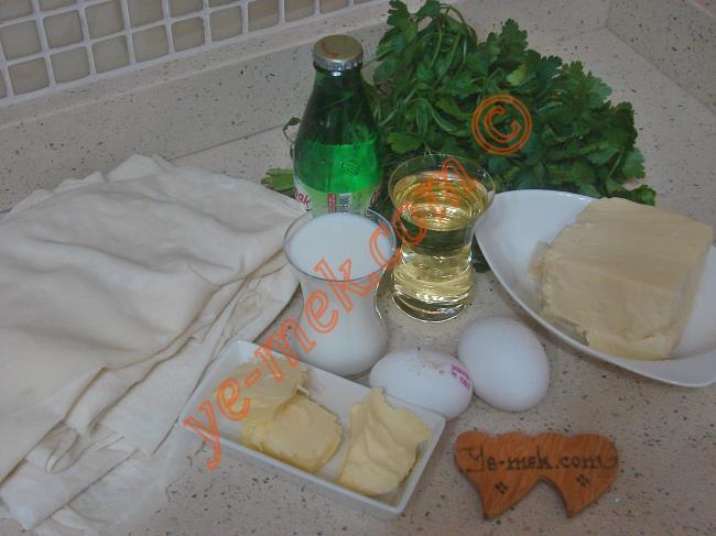 Yalancı Su Böreği Malzemeleri