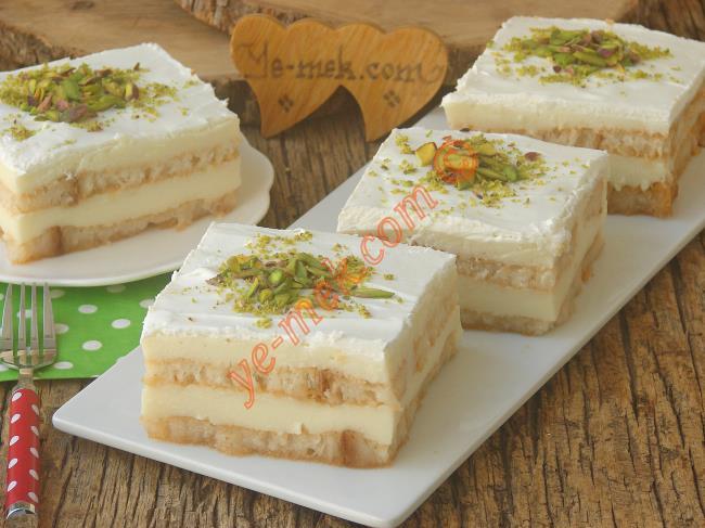Yaş Pasta Tadında : İki Katlı Etimek Tatlısı