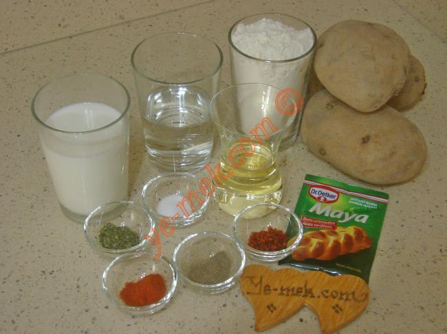 Patatesli Bazlama Malzemeleri