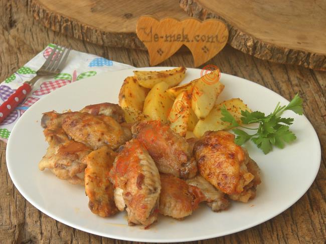 Tavada Mangal Tadında Bir Lezzet, Kolay ve Pratik : Tavuk Kanat