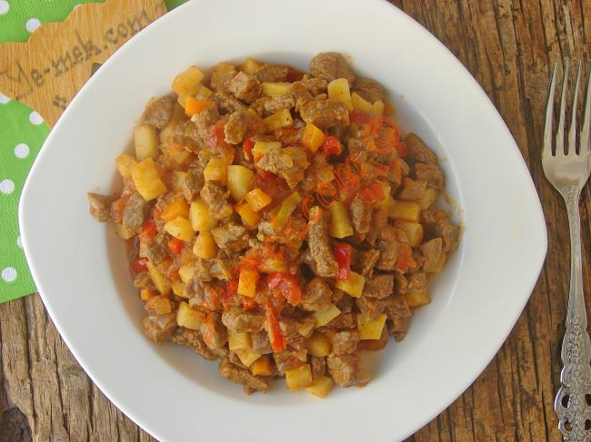 Lokum Gibi Etleri İle Enfes Bir Ana Yemek : Sebzeli Et Sote
