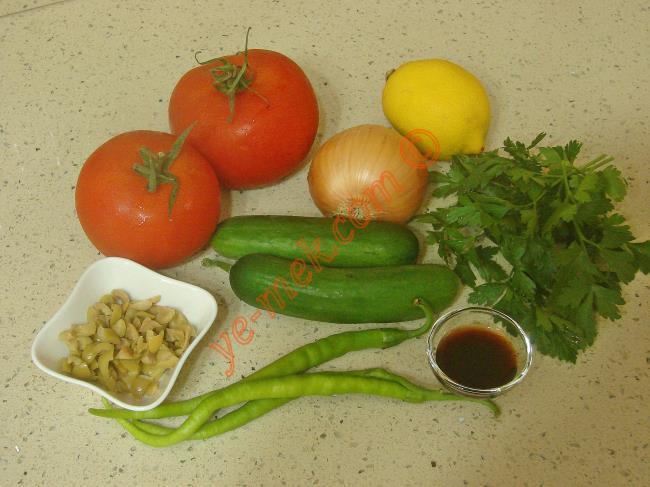 Kaşık Salatası Malzemeleri