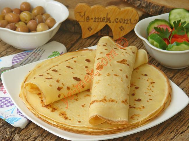 Kahvaltıya Şahane Olur, 10 Dakika da Hazır : Krep