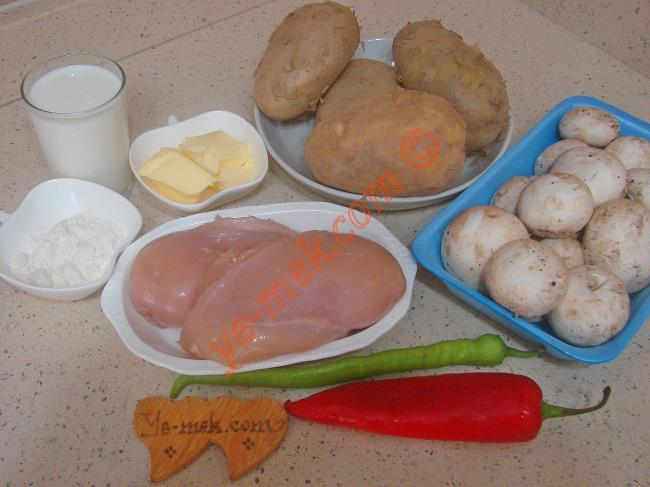Tavuklu Patates Oturtma Malzemeleri
