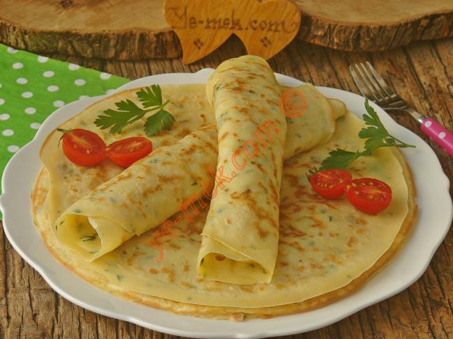 Peynirli Krep Ruloları