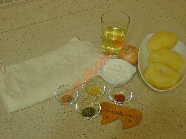 Patatesli Börek Malzemeleri