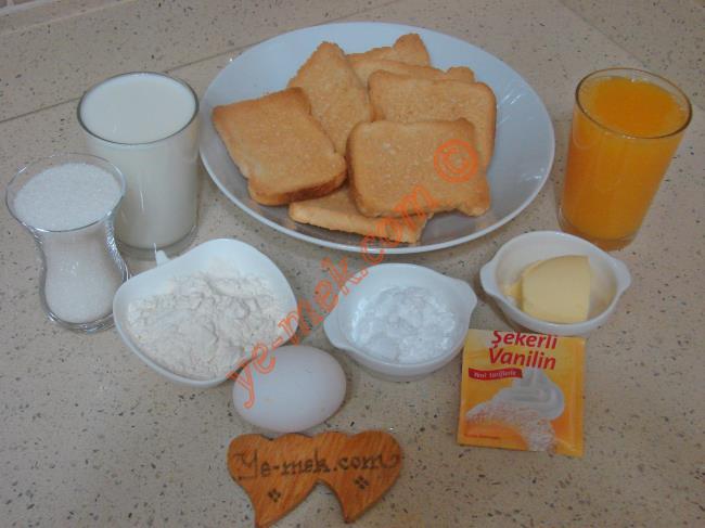 Portakal Soslu Etimek Tatlısı Malzemeleri