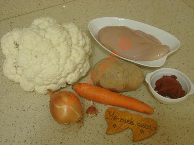 Tavuklu Karnabahar Yemeği Malzemeleri