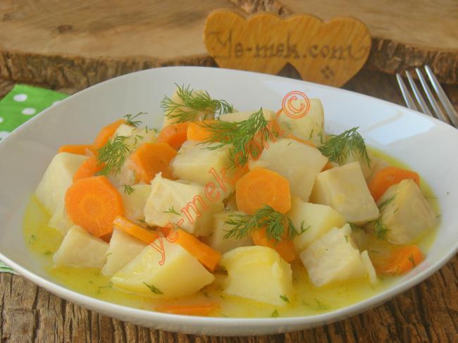 Zeytinyağlı Portakallı Kereviz Yemeği