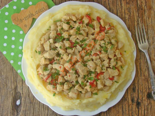 Patates Püreli Tavuk Sote