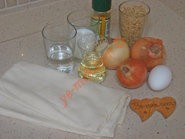 Soğan Böreği Malzemeleri