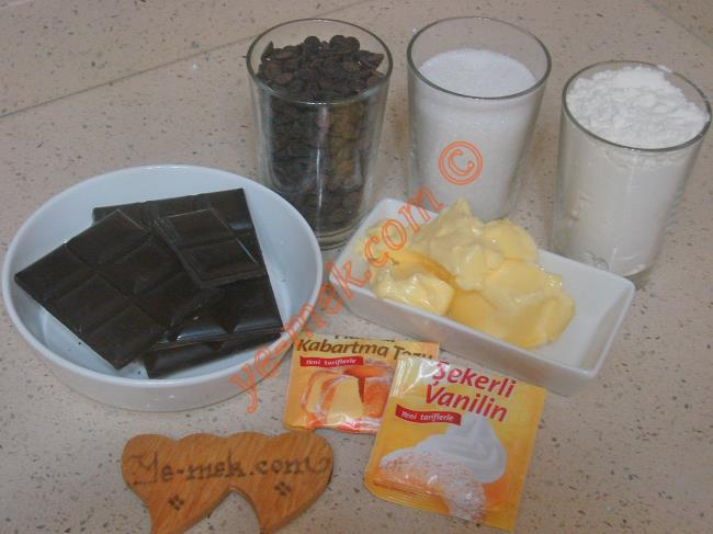 Çikolatalı Kurabiye Malzemeleri