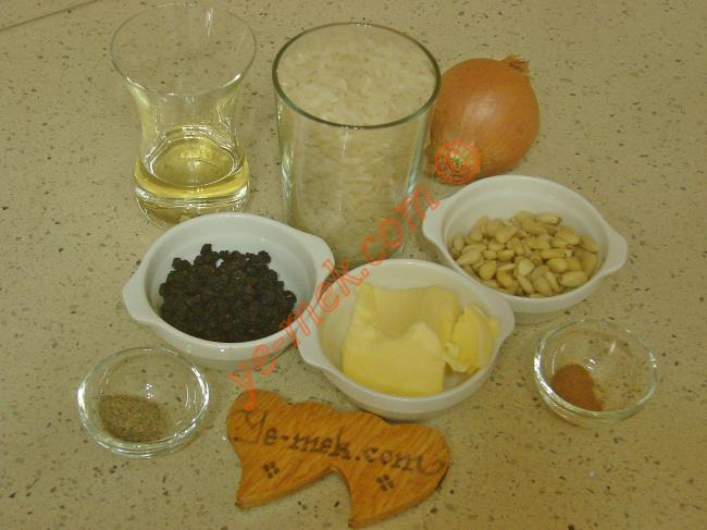 İç Pilav Malzemeleri