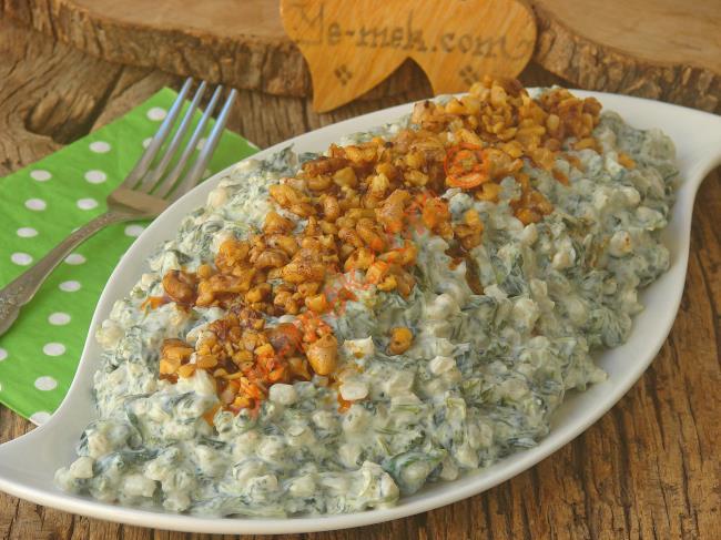 Tadına Doyamayacağınız Nefis Bir Lezzet : Ispanaklı Buğday Salatası