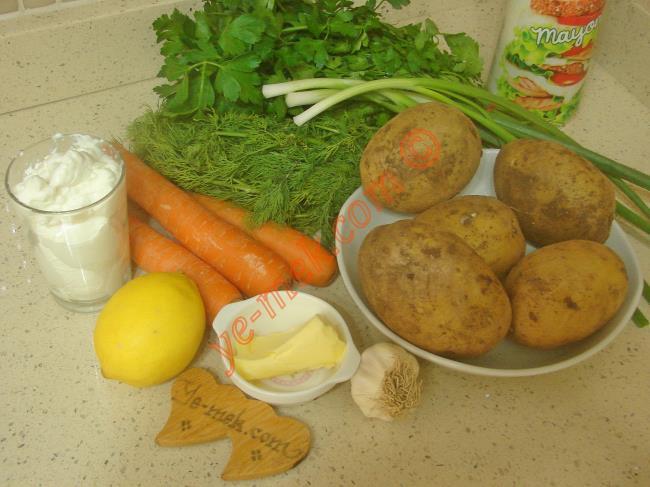 Kolay Patates Salatası Malzemeleri
