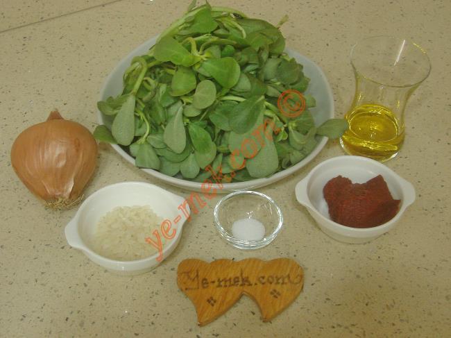 Semizotu Yemeği Malzemeleri