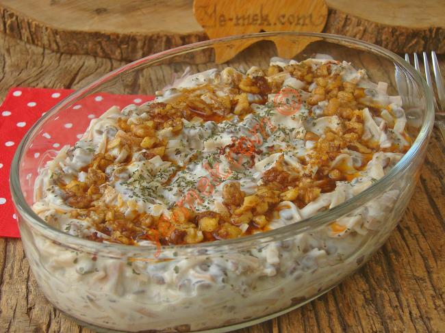 Yeşil Mercimekli Makarna Salatası Yapılışı