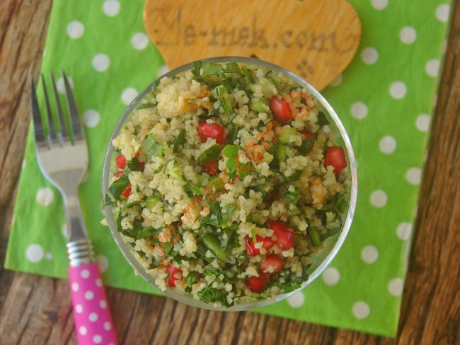 Doyurucu, Pratik Ve Lezzetli Bir Salata : Bulgurlu Ispanak Salatası