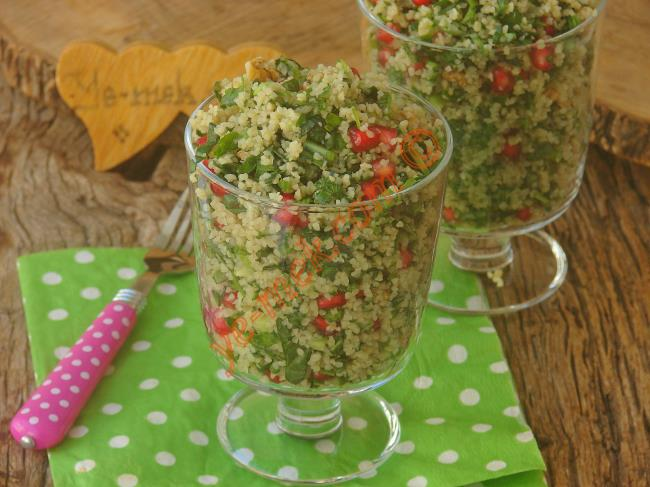 Bulgurlu Ispanak Salatası