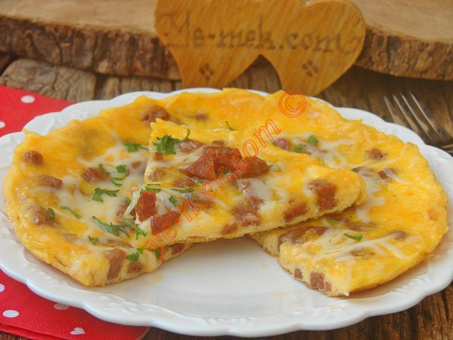 Omletler Arasında En Çok Tercih Edilen : Sucuklu Omlet