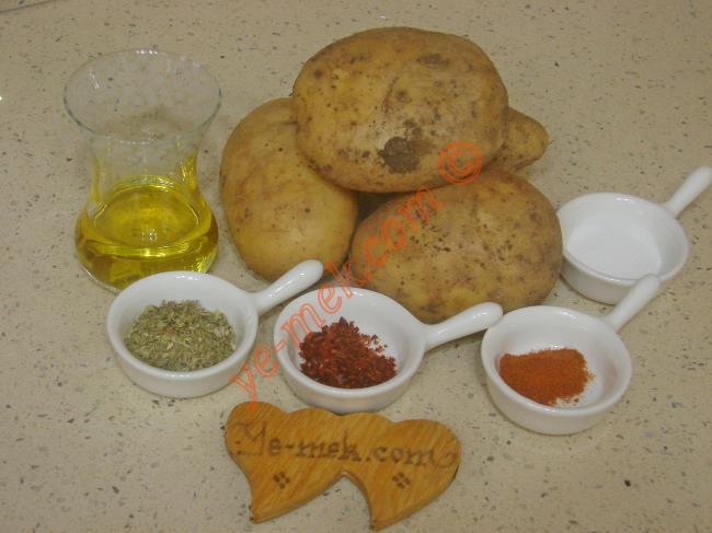 Fırında Elma Dilimli Patates Malzemeleri