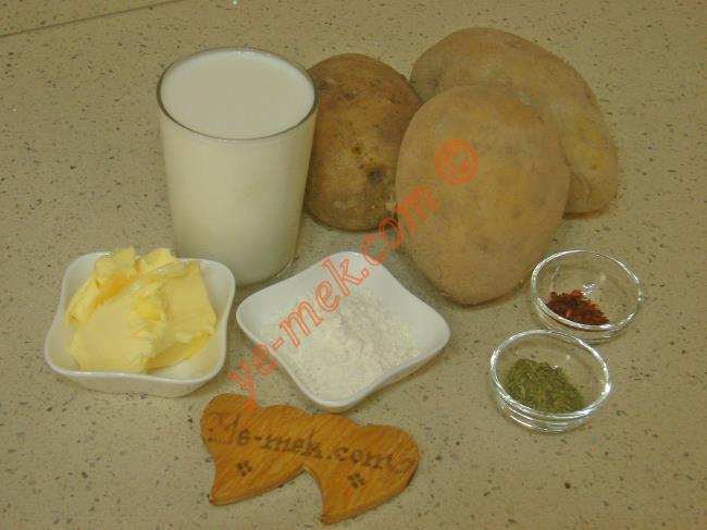Sütlü Patates Çorbası Malzemeleri