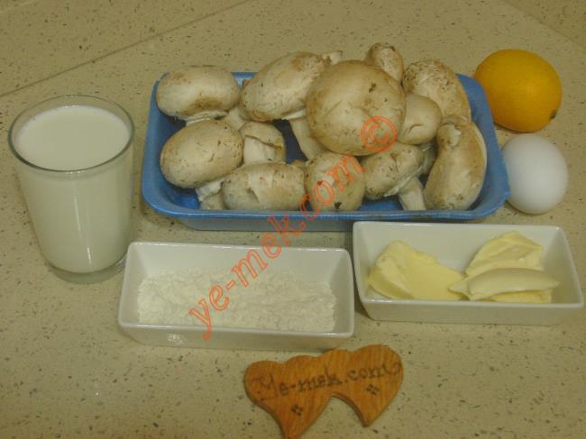 Terbiyeli Mantar Çorbası Malzemeleri