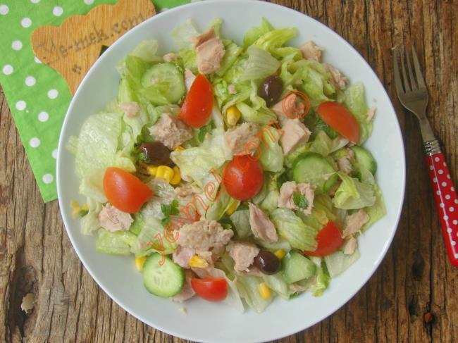 Doyurucu, Sağlıklı Ve Lezzetli Bir Salata : Ton Balıklı Salata