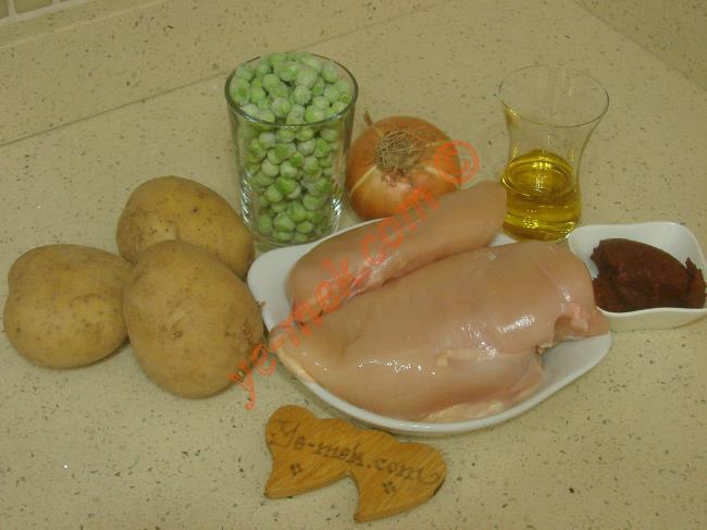 Bezelyeli Tavuk Yemeği