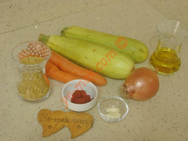 Bulgurlu Kabak Yemeği Malzemeleri
