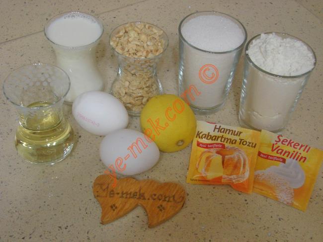 Limonlu Fındıklı Kek Malzemeleri
