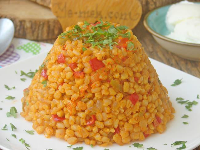 Sebzeli Buğday Pilavı