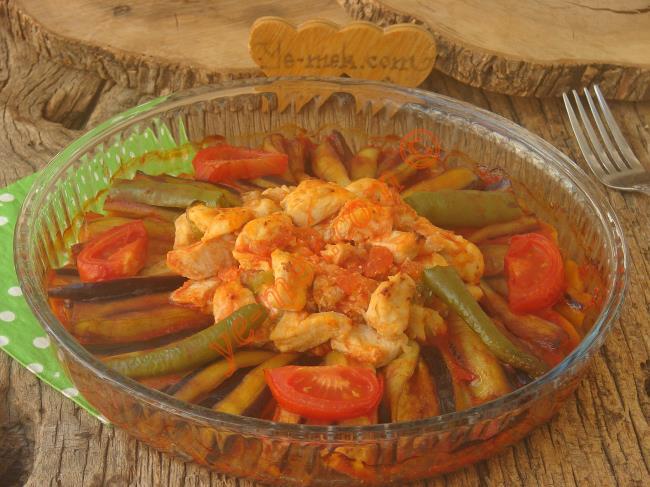 Patlıcanlı Tavuk Yemeği