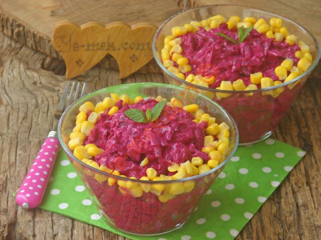 Görünümünü ve Tadını Çok Seveceksiniz (Şip Şak Hazır) : Mayonezli Pancar Salatası