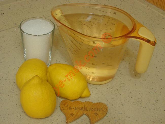 Pastane Usulü Limonata Malzemeleri