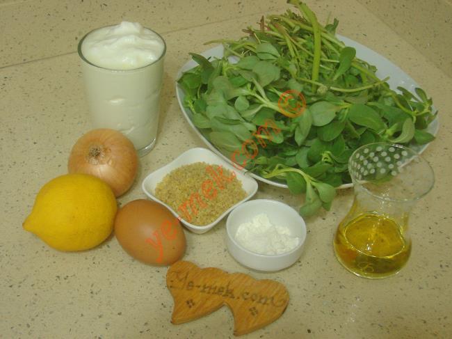 Yoğurtlu Semizotu Çorbası Malzemeleri