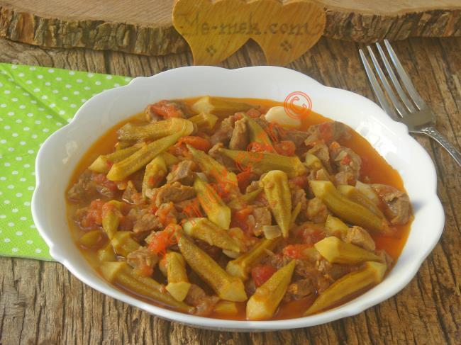 Bütün Püf Noktaları İle Nefis Bir Bamya Yemeği : Etli Bamya