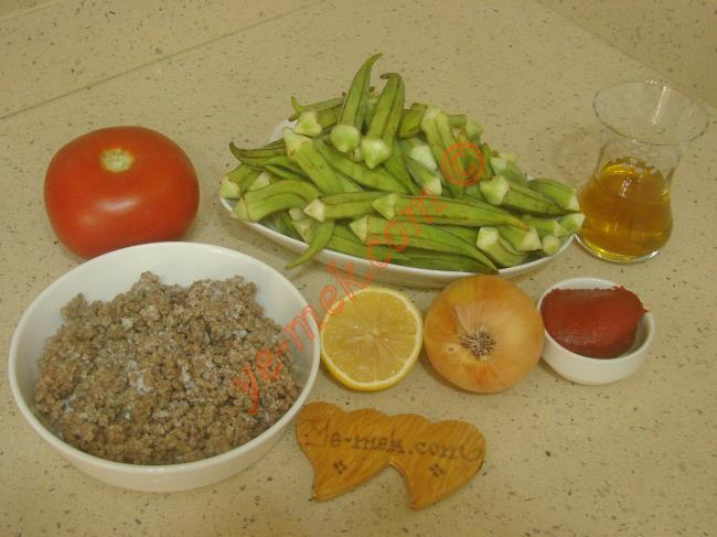 Kıymalı Bamya Yemeği Malzemeleri