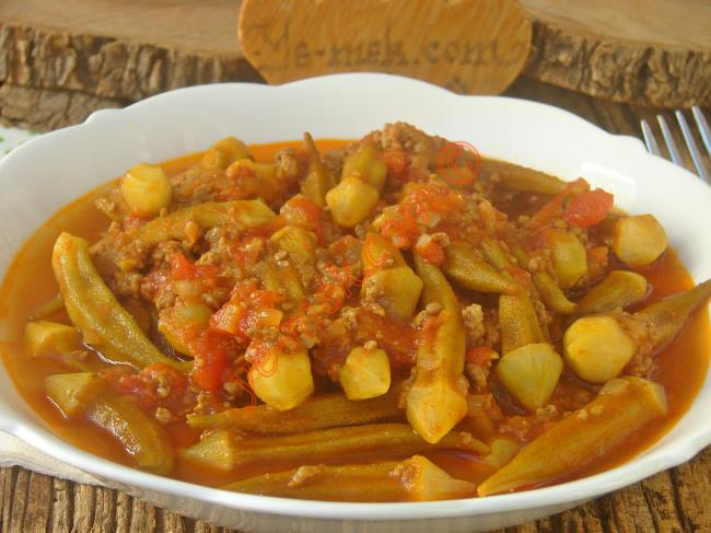 Püf Noktaları İle Kolaylıkla Yapabileceğiniz, Nefis Bir Bamya Yemeği : Kıymalı Bamya Yemeği