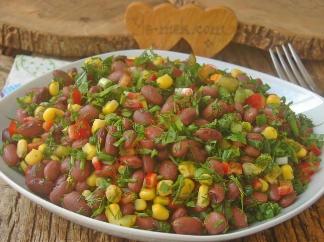 Özellikle Salataya Çok Yakışıyor  : Kırmızı Fasulye Salatası