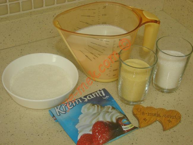 Prenses Lokumu İçin Gerekli Malzemeler :  <ul>         <li>3 su bardağı süt</li> <li>8 yemek kaşığı toz şeker</li>         <li>8 yemek kaşığı irmik</li>         <li>1 paket krem şanti tozu</li>         <li><strong>Bulamak için:</strong></li>         <li>Hindistan cevizi</li>          </ul>