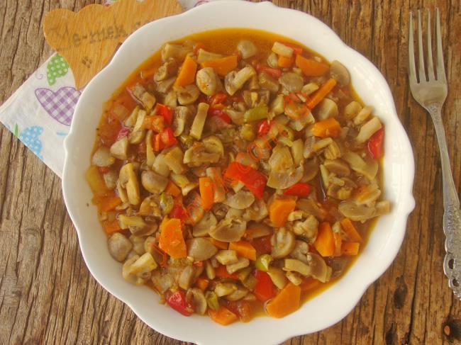 Sebzeli Mantar Yemeği