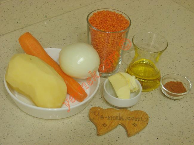 Patatesli Mercimek Çorbası - Yapılışı (1/12)