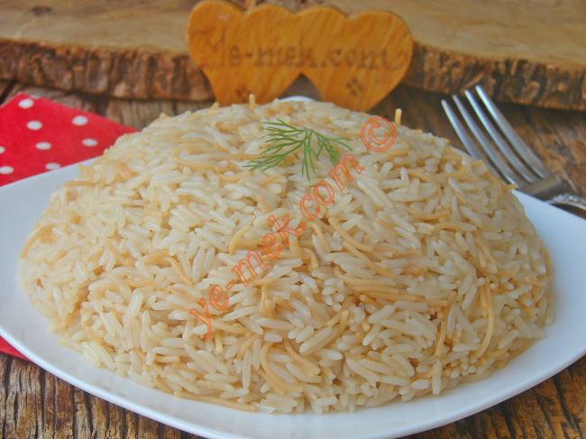 2 Kişilik Pirinç Pilavı Tarifi