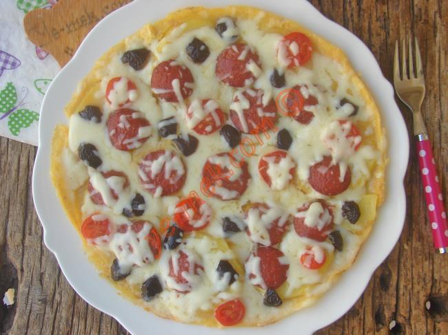 Her Kahvaltıda Yapmak İsteyeceksiniz (Aşırı Pratik, Çok Lezzetli) : Patates Pizzası