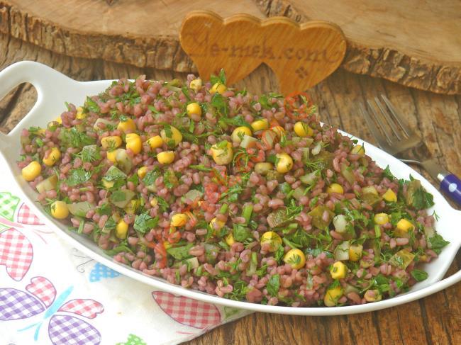This Salad Will Addiction (Presentazione elegante, Yummy): Navet Bulgur Salad